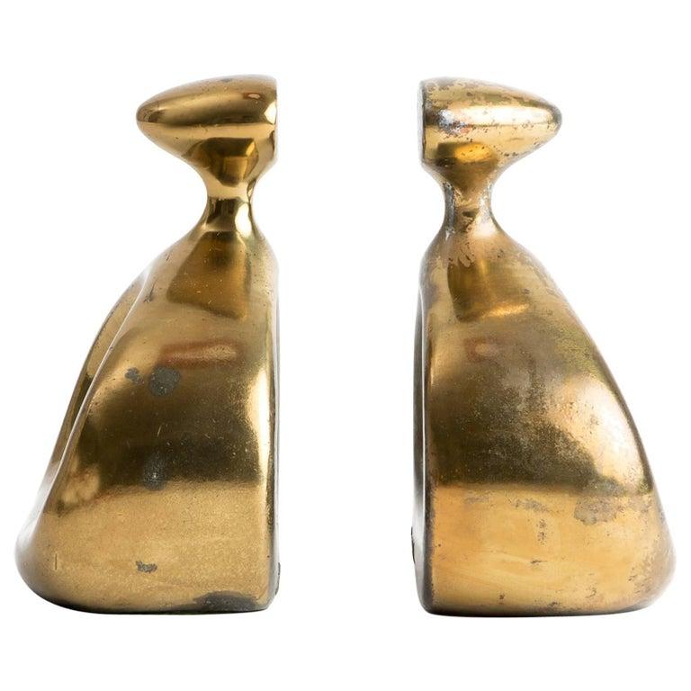 Seibel Brass Bookends