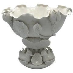 1960s Italian Blanc De Chine Lotus Cachepot Bowl
