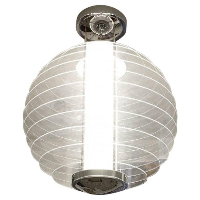 """""""0024XXL"""" Pendant Lamp in Glass and Brass Designed by Gio' Ponti for FontanaArte"""