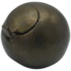 1970s Sarreid Ltd. Bronze Ball Ashtray