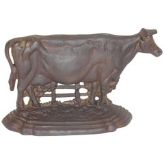 Cast Iron Cow Door Stop