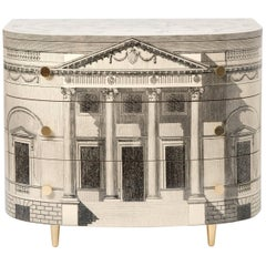 "Barnaba Fornasetti curved chest of drawers ""Palladiana"", Italy 2017"