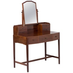 Edward Barnsley mahogany dressing table with ebonized handles,England circa 1930