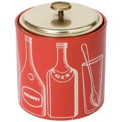 "Piero Fornasetti ice bucket ""Ricette per Cocktail"", Italy circa 1950"