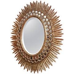 Modern Sunburst Mirror