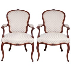 Pair of George III Carved Armchairs
