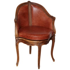 French Louis XV Style Desk Chair