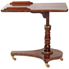 Regency Rosewood Dual Reading Stand /  Adjustable Bed Table