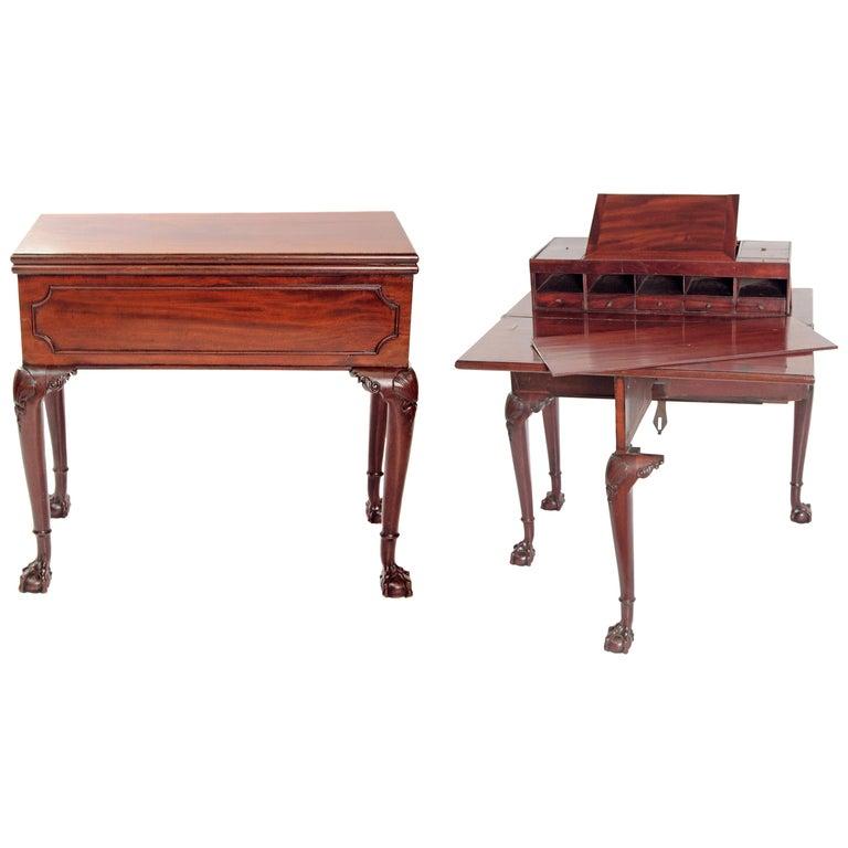 George II Mahogany Harlequin Table