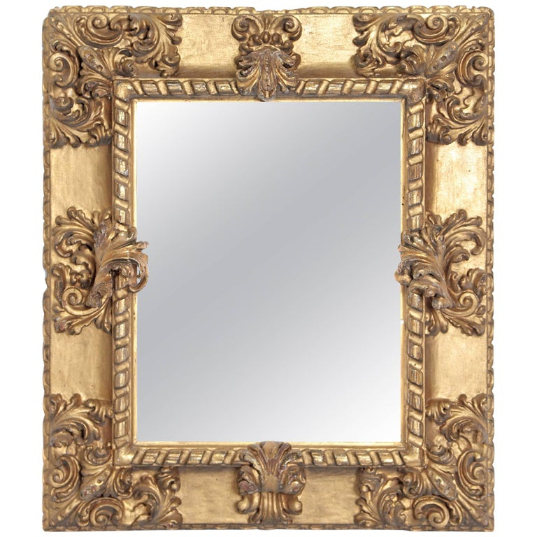 Rare 17th Century Giltwood Italian Picture Frame