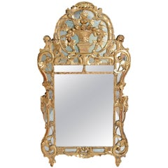 18th Century Louis XV Giltwood Provincial Mirror