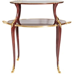 19th Century Ormolu-Mounted Louis XV Style Two-Tiered Dessert Table