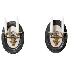 Pair of Neoclassic Style Two-Light Sconces