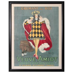 """Crémant du Roi"" Color Lithographic Poster by Leonetto Cappiello"