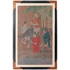 Chinese Scroll Painting of Dignitary on Horseback