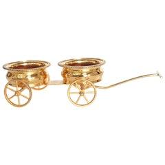 Gilt Bronze Wine Decanter Wagon Trolley
