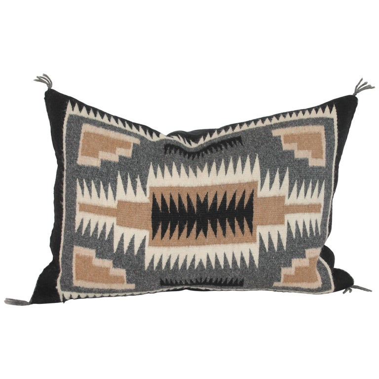 Navajo Indian Weaving Two Grey Hills Pillow