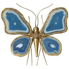 Agate Butterfly Wall Sconce by Brasseur