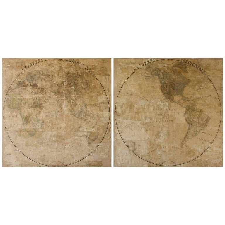 Pair of Late 18th Century Maps from Italy For Sale