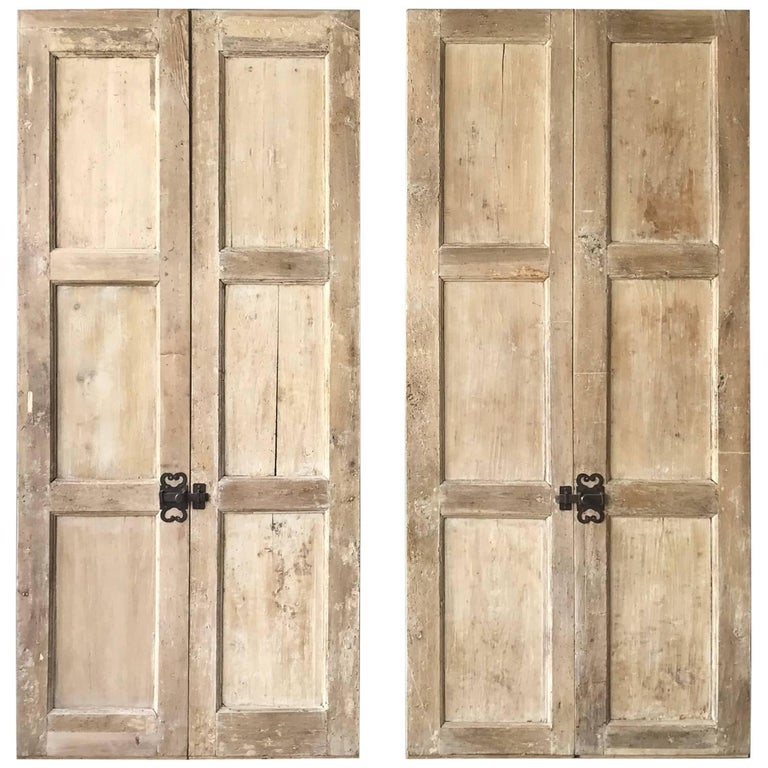 Set of Two 17th Century Walnut and Poplar Doors For Sale