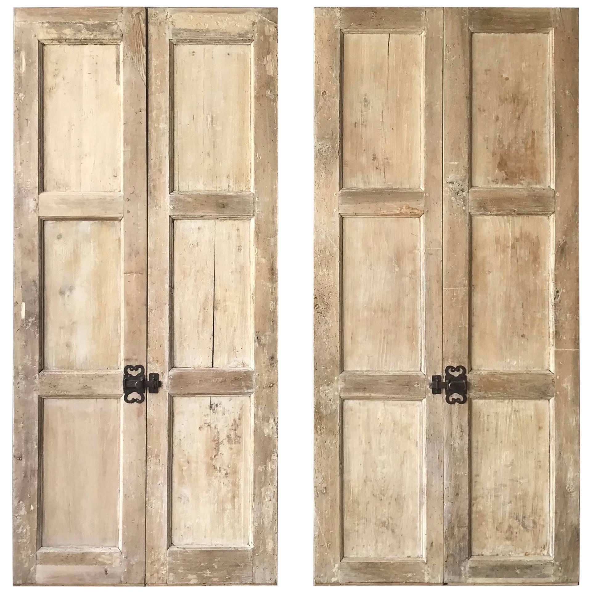Set of Two 17th Century Walnut and Poplar Doors For Sale & Set of Two 17th Century Walnut and Poplar Doors at 1stdibs