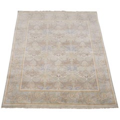 Light-Green William Morris Style Rug