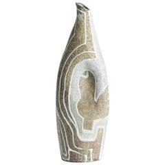 Midcentury French Ceramic Jug, Signed