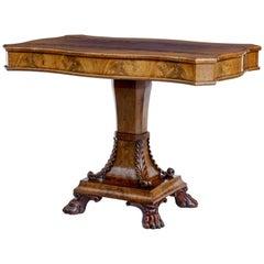 Mid-19th Century, Swedish Flame Mahogany Center Table