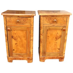 French Deco Pair of Nightstands