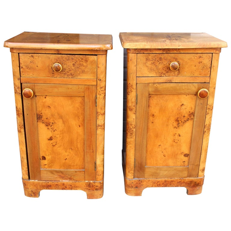 French Deco Pair of Nightstands 1