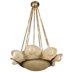 French Art Deco Chandelier by Simonet Freres