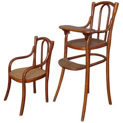 Antique Thonet Bentwood Puppenmobel Doll Chairs / Doll Furniture