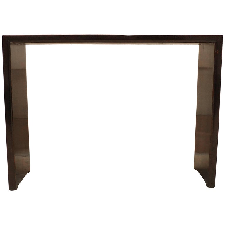 Fine Black Lacquer Console Table For Sale