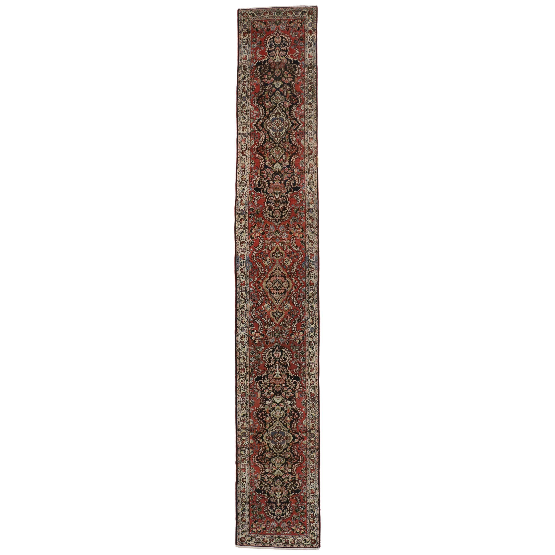 Antique Persian Hamadan Runner, Extra Long Persian Runner