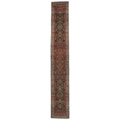 Antique Persian Hamadan Runner, Extra Long Persian Runner