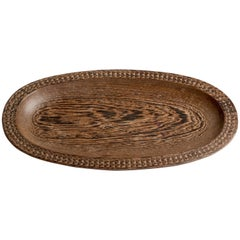 Carved Solid Wood Tray Made of Wenge