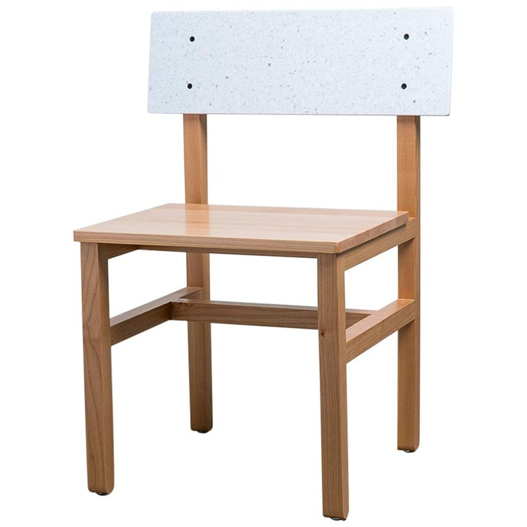 Second Chair in Western Pacific Maple and Solid Surface