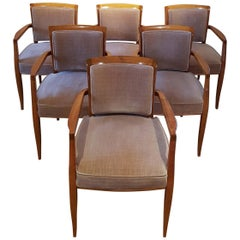 Michel Roux-Spitz Dining Chairs, Set of Six