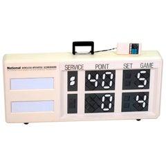 1980s Wireless Operated Tennis Scoreboard