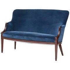 Frits Henningsen Mahogany Two-Seat Sofa, circa 1940s