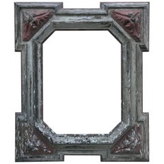 Antique Painted Wood Frame, Italy, circa 1850