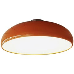 """Pangen"" Painted Aluminum Ceiling Lamp Designed by FontanaArte"