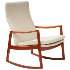 Ole Wanscher 'FD-160' Teak Rocking Chair