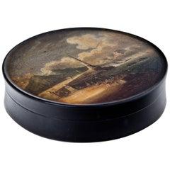 Round Lacquer Box, Berlin, circa 1820