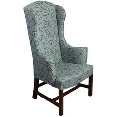 High Wingback Wing Armchair in George III Style