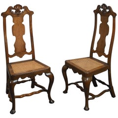 Pair of 18th Century Portuguese Rosewood Chairs