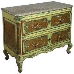 18th Century Louis XV Provincial Painted Commode of Chest of Drawers
