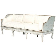 Swedish Rococo Painted Sofa Bench, circa 1770s