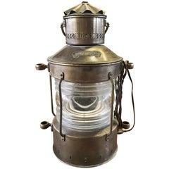 Laterne Ankerlicht aus Messing aus dem 19. Jahrhundert, Niederlande
