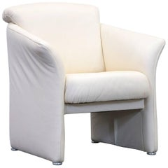 Designer Armchair Leather Crème One Seat Couch Modern